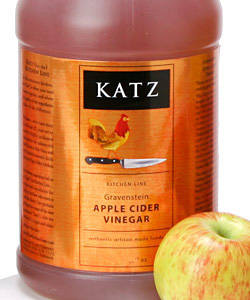 KATZ  GRAVENSTEIN APPLE CIDER VINEGAR ~ 1/2-GALLON
