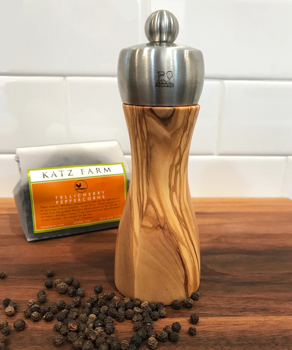 OLIVE WOOD PEUGEOT PEPPER MILL