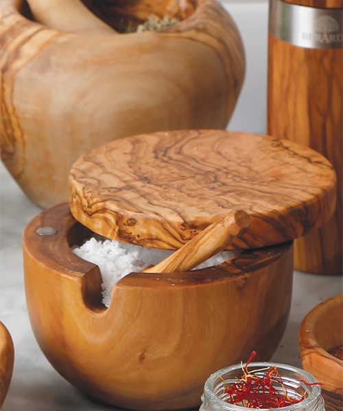 OLIVE WOOD SALT KEEPER - Temporarily Out