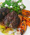 Grilled Spring Lamb Chops W/KATZ Zinfandel And Fresh Mint Vinaigrette