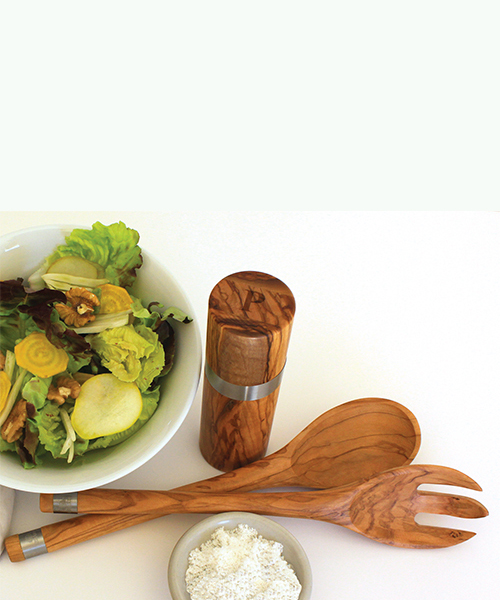 OLIVE WOOD PEPPER MILL - French