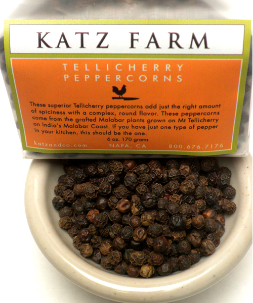 KATZ FARM TELLICHERRY PEPPERCORNS